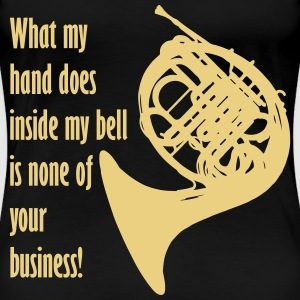 What my hand does inside my bell. T-shirts - Vrouwen Premium T-shirt