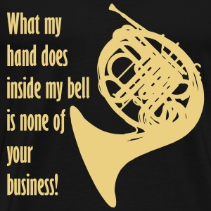 What my hand does inside my bell. T-shirts - Mannen Premium T-shirt