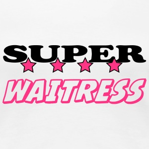 Super waitress T-shirts - Dame premium T-shirt