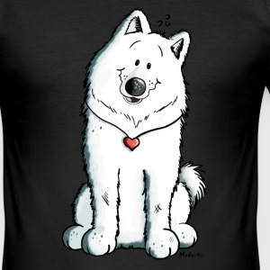 Samoyed with heart T-Shirts - Men's Slim Fit T-Shirt