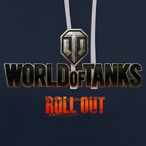 World of Tanks Men Hoodie - Felpa con cappuccio bicromatica