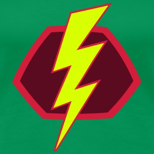Blitz Flash Superhelden Superhero Symbol T-Shirts - Frauen Premium T-Shirt