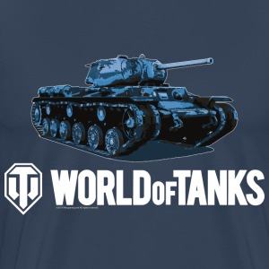 World of Tanks Blue Tank Men T-Shirt - Premium T-skjorte for menn