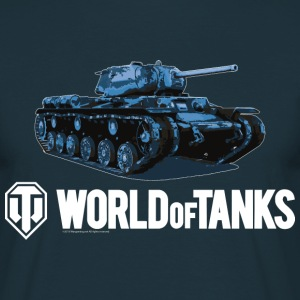 World of Tanks Blue Tank Men T-Shirt - T-shirt herr