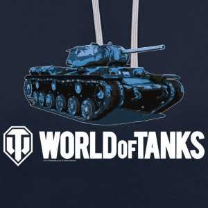 World of Tanks Blue Tank Men Hoodie - Kontrastluvtröja