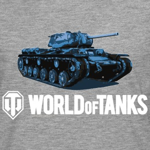 World of Tanks Blue Tank Men Hoodie - Maglietta Premium a manica lunga da uomo