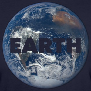 Planet Earth Tee shirts - T-shirt Bio Femme