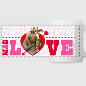 Madagascar Gloria & Melman Saint Valentine's Day M - Panoramic Mug