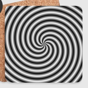 The Swirl in Black and White - Coasters (set of 4)