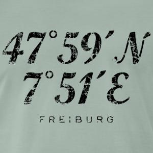 Freiburg im Breisgau Koordinaten Vintage Schwarz