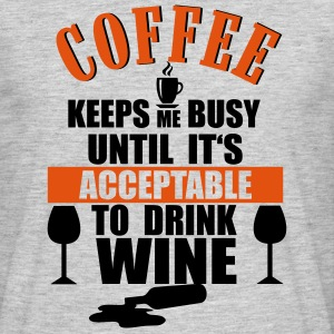 Coffee - Wine T-shirts - T-shirt herr