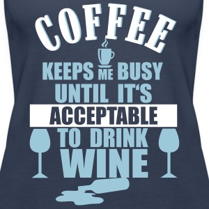 Coffee - Wine Topy - Tank top damski Premium
