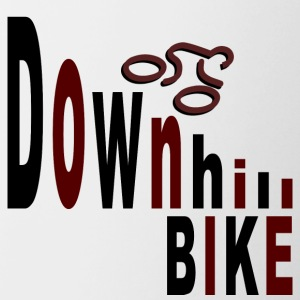 Downhill bike Mugs & Drinkware - Contrasting Mug