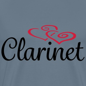 Clarinet Hearts Tee shirts - T-shirt Premium Homme