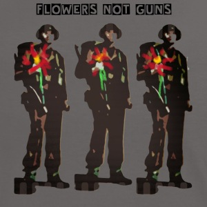 Flowers not Guns - Women's Ringer T-Shirt