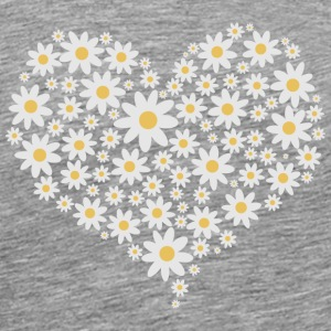 Heart of white flowers T-Shirts - Men's Premium T-Shirt