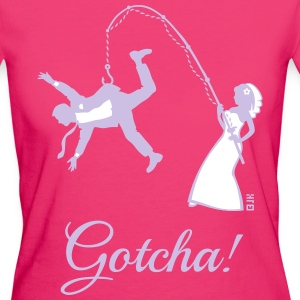Gotcha! (Bride Fishing Husband / Hen Party) T-Shirts - Women's Organic T-shirt