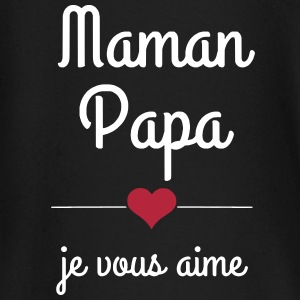 maman papa je vous aime Tee shirts manches longues Bébés - T-shirt manches longues Bébé