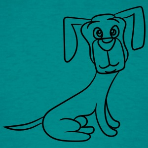 sweet sitting plush faithful dog dachshund dear T-Shirts - Men's T-Shirt
