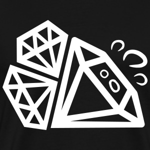 diamonds T-Shirts - Men's Premium T-Shirt