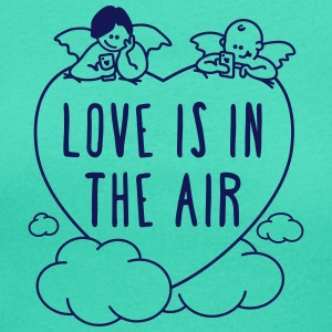 Valentinstag - love is in the air - Frauen T-Shirt mit U-Ausschnitt