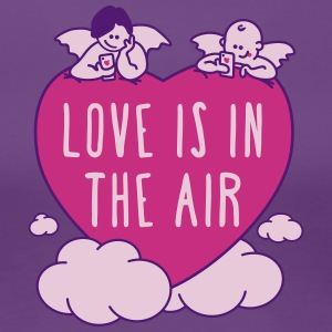 Valentinstag - love is in the air - Frauen Premium T-Shirt