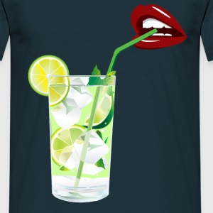 Lips and mojitos : for a perfect night Tee shirts - T-shirt Homme