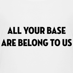 All Your Base Are Belong to Us / Geek / Gaming Skjorter - Premium T-skjorte for tenåringer
