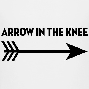 Arrow in the knee / Geek / Gaming / Gamer / Game Skjorter - Premium T-skjorte for tenåringer