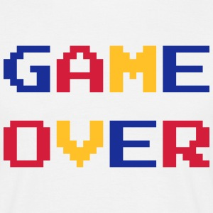 Game Over / Geek / Gaming / Gamer / Gamer / Player Magliette - Maglietta da uomo