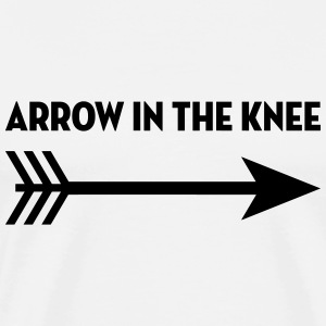 Arrow in the knee / Geek / Gaming / Gamer / Game T-skjorter - Premium T-skjorte for menn