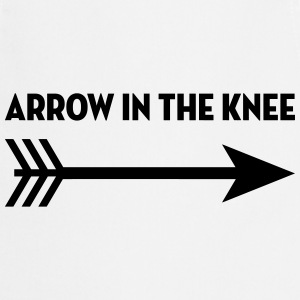 Arrow in the knee / Geek / Gaming / Gamer / Game Forklær - Kokkeforkle