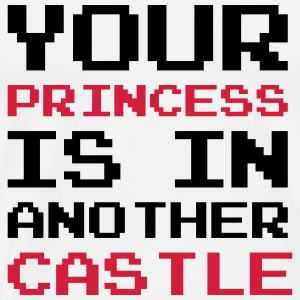 Your Princess is Another Castle / Geek / Gaming T-skjorter - Premium T-skjorte for menn