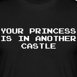 Your Princess is Another Castle / Geek / Gaming Koszulki - Koszulka męska