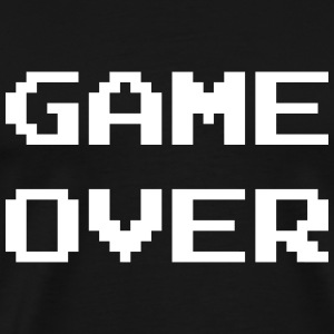 Game Over / Geek / Gaming / Gamer / Gamer / Player T-skjorter - Premium T-skjorte for menn