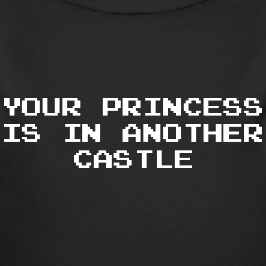 Your Princess is Another Castle / Geek / Gaming Body neonato - Body ecologico per neonato a manica lunga
