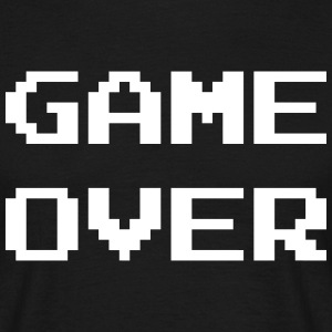Game Over / Geek / Gaming / Gamer / Gamer / Player T-shirts - Mannen T-shirt