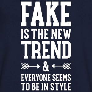 Fake Is The New Trend T-shirts - Mannen T-shirt met V-hals