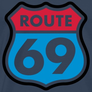 Route 69 colored T-Shirts - Men's Premium T-Shirt