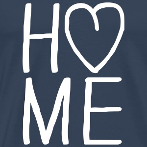i love Home Herz T-shirts - Mannen Premium T-shirt