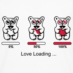 bear in love- silhouette - Love loading Long sleeve shirts