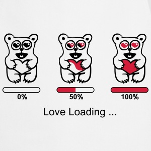bear in love- silhouette - Love loading  Aprons - Cooking Apron
