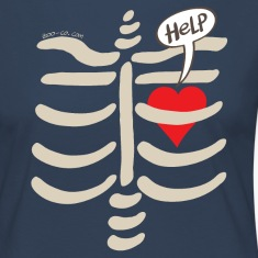 Imprisoned Heart Asking for Help Long Sleeve Shirts