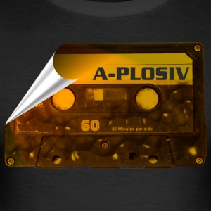 A-Plosiv Retro ON TAPE - Männer Slim Fit T-Shirt