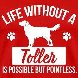 Dog shirt: Life without a Toller is pointless Koszulki - Koszulka męska Premium