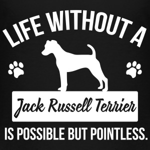 Dog shirt: Life without a Jack Russell = pointless Magliette - Maglietta Premium per bambini