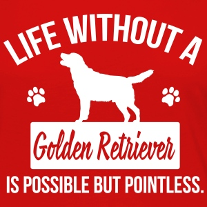 Dog shirt: Life without a Goldie is pointless Långärmade T-shirts - Långärmad premium-T-shirt dam