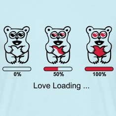 bear in love - silhouette - love loading
