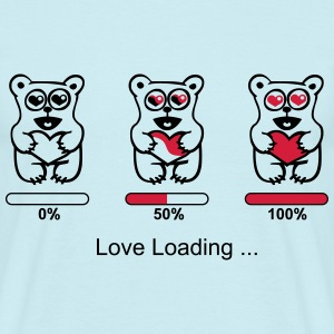 elsker bear - silhuet - Love loading T-shirts - Herre-T-shirt