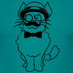 kitten sir mr mustache monocle glasses cylinder be T-Shirts - Men's T-Shirt